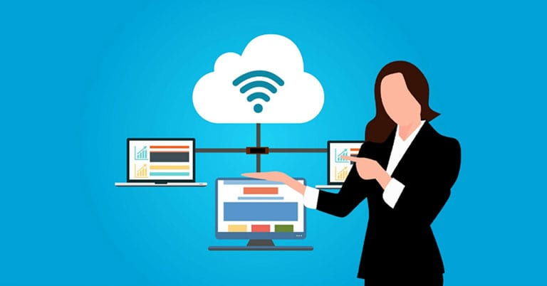 Example of a cloud computing system